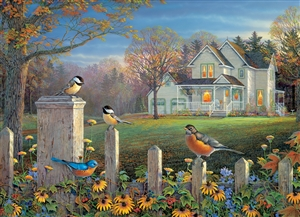 1000pc Evening Birds jigsaw puzzle by Cobble Hill Puzzle Co.