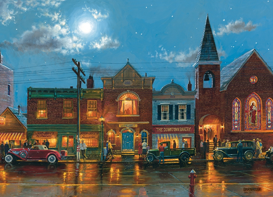 Evening Service with Poster Cobble Hill 1000 Piece Puzzle