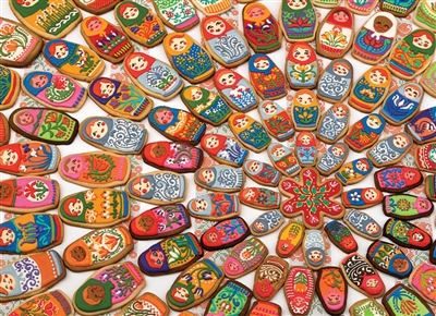 1000pc Matryoshka Cookies jigsaw puzzle by Cobble Hill Puzzle Co.