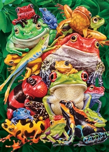 1000pc Frog Business jigsaw puzzle by Cobble Hill Puzzle Co.