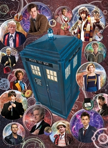 1000pc Doctor Who: The Doctors jigsaw puzzle by Cobble Hill Puzzle Co.