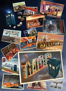 1000pc Doctor Who: Postcards jigsaw puzzle by Cobble Hill Puzzle Co.