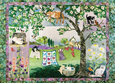 1000pc Wind in the Whiskers jigsaw puzzle by Cobble Hill Puzzle Co.
