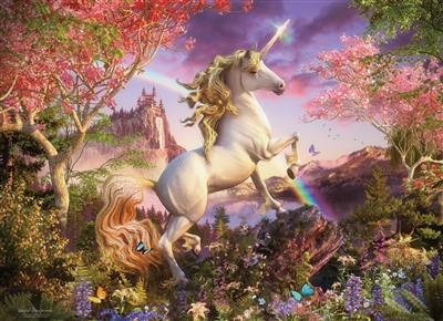 1000pc Unicorn jigsaw puzzle by Cobble Hill Puzzle Co.