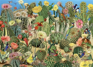 1000pc Cactus Garden jigsaw puzzle by Cobble Hill Puzzle Co.