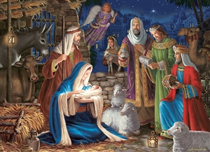 1000pc Miracle in Bethlehem jigsaw puzzle by Cobble Hill Puzzle Co.