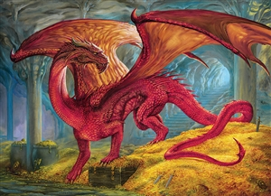 1000pc Red Dragon's Treasure jigsaw puzzle by Cobble Hill Puzzle Co.