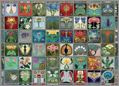 Art Nouveau Tiles 1000pc jigsaw puzzle by Cobble Hill Puzzle Co.