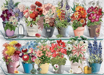 Beaucoup Bouquet 1000pc jigsaw puzzle by Cobble Hill Puzzle Co.