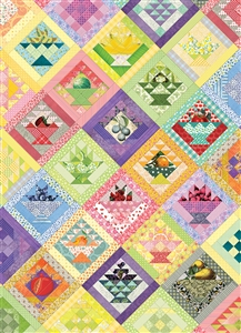 Fruit Basket Quilt 1000pc jigsaw puzzle by Cobble Hill Puzzle Co.