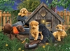 In the Doghouse 1000pc jigsaw puzzle by Cobble Hill Puzzle Co.