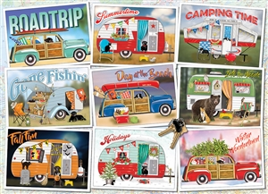 Hitting the Road 1000pc jigsaw puzzle by Cobble Hill Puzzle Co.