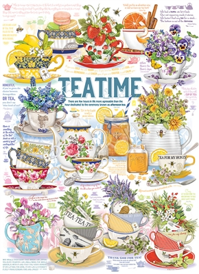 Tea Time 1000pc jigsaw puzzle by Cobble Hill Puzzle Co.