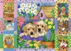 Puppies and Posies Quilt 1000pc jigsaw puzzle by Cobble Hill Puzzle Co.