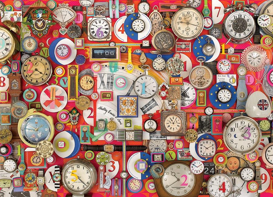 Timepieces 1000pc jigsaw puzzle by Cobble Hill Puzzle Co.