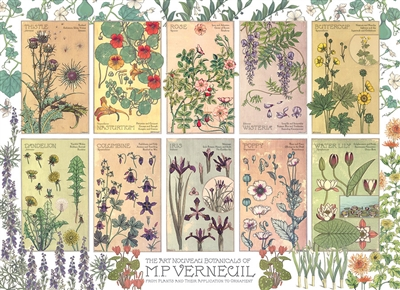 Botanicals by Verneuil 1000pc jigsaw puzzle by Cobble Hill Puzzle Co.
