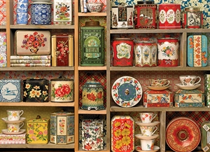 Vintage Tins 1000pc jigsaw puzzle by Cobble Hill Puzzle Co.