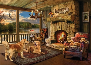 Lakeside Cabin 1000pc jigsaw puzzle by Cobble Hill Puzzle Co.
