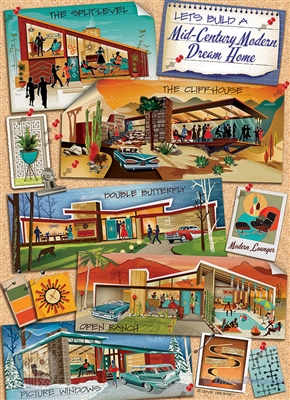 Mid-Century Modern Dream Home 1000 Piece Puzzle by Cobble Hill Puzzle Co