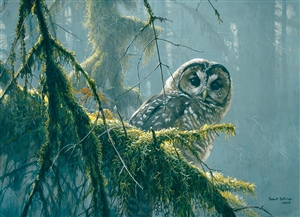 500 piece Mossy Branches - Spotted Owl jigsaw puzzle | 85002 | Cobble Hill Puzzle Company