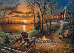 500 piece Fireside jigsaw puzzle | 85009 | Cobble Hill Puzzle Company