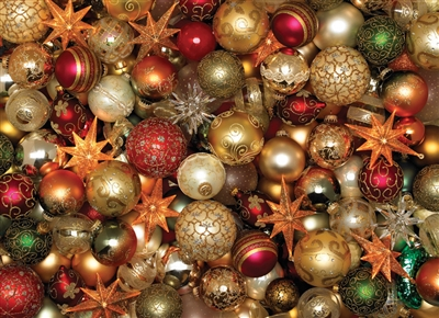 500 piece Christmas Balls jigsaw puzzle | 85012 | Cobble Hill Puzzle Company