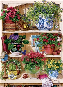 85015 | 500pc Flower Cupboard jigsaw puzzle | Cobble Hill Puzzle Company