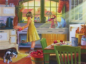 500 piece Apple Pie Kitchen jigsaw puzzle | 85016 | Cobble Hill Puzzle Company