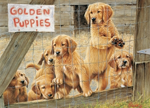 500pc Golden Puppies jigsaw puzzle | Cobble Hill Puzzle Company