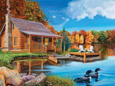 500pc Loon Lake jigsaw puzzle | Cobble Hill Puzzle Company