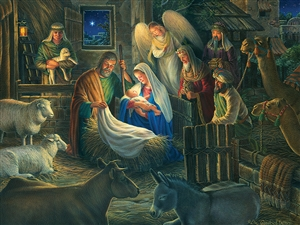 500pc Away in a Manger jigsaw puzzle | 85040 | Cobble Hill Puzzle Company