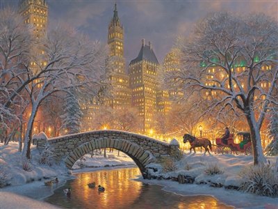 500pc Winter in the Park jigsaw puzzle | 85041 | Cobble Hill Puzzle Company