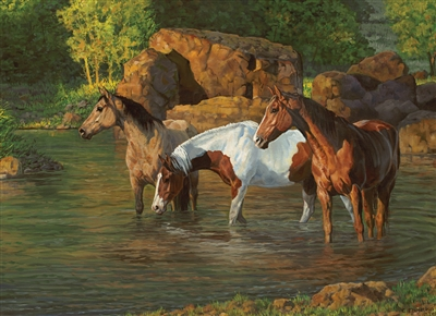 500pc Horse Pond jigsaw puzzle by Cobble Hill Puzzle Co.