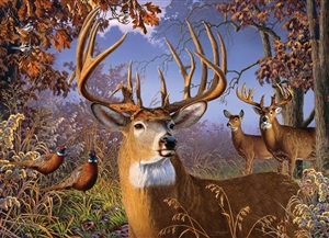 500pc Deer and Pheasant jigsaw puzzle by Cobble Hill Puzzle Co.