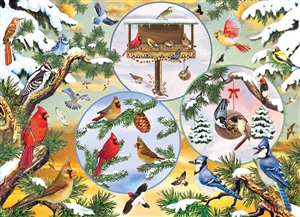 500pc Winterbird Magic jigsaw puzzle by Cobble Hill Puzzle Co.