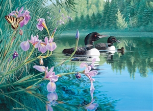 Iris Cove Loons 500pc jigsaw puzzle by Cobble Hill Puzzle Co.