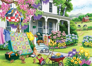 Spring Cleaning 500pc jigsaw puzzle by Cobble Hill Puzzle Co.
