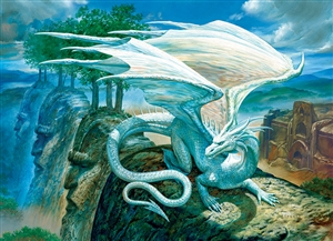 White Dragon 500pc jigsaw puzzle by Cobble Hill Puzzle Co.
