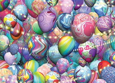 Party Balloons 500pc jigsaw puzzle by Cobble Hill Puzzle Co.
