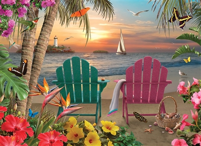 Island Paradise 500pc jigsaw puzzle by Cobble Hill Puzzle Co.