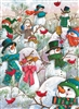 Hill of a Lot of Snowmen 500pc jigsaw puzzle by Cobble Hill Puzzle Co.