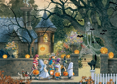 Halloween Buddies  500pc jigsaw puzzle by Cobble Hill Puzzle Co.