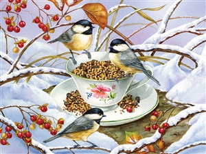 275 pc Easy Handling puzzle Chickadee Tea puzzle  | 88001 | Cobble Hill Puzzle Company