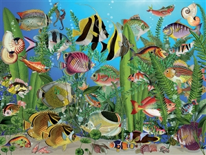 275 pc Easy Handling puzzle Aquarium puzzle  | 88003 | Cobble Hill Puzzle Company