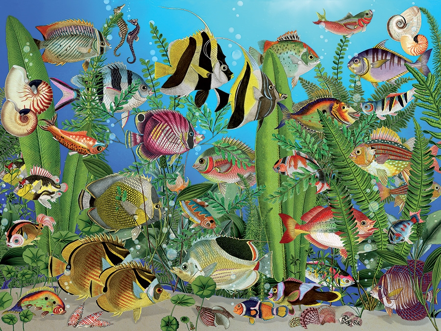 Aquarium of the Sea 500pc Jigsaw Puzzle by
