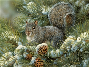 275 piece Easy Handling Gray Squirrel animal puzzle  | 88016 | Cobble Hill Puzzle Company