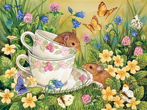 Tea for Two Easy Handling 275 pc jigsaw puzzle by Cobble Hill Puzzle Co.