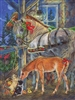 Holiday Horsies Easy Handling 275 pc jigsaw puzzle by Cobble Hill Puzzle Co.