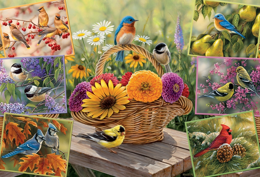 Cobble Hill Rosemary/'s Birds Jigsaw Puzzle 2000 Pieces