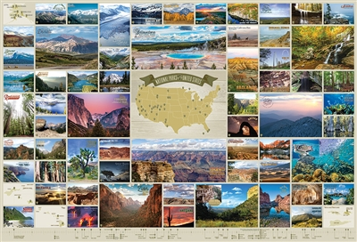 2000pc National Parks of the United States jigsaw puzzle by Cobble Hill Puzzle Co.